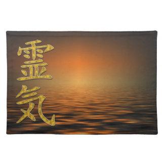 REIKI Symbol + ocean sunrise Placemat