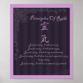 Reiki Symbol Principles Poster Just For Today