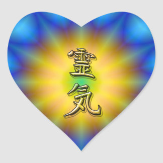 Reiki symbol heart sticker