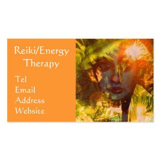 Reiki tarjeta de visita de la terapia de la energí