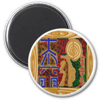 ReikiHealingArt símbolos abril de 2011 Imán Redondo 5 Cm
