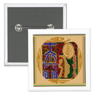 ReikiHealingArt símbolos abril de 2011 Pin Cuadrado