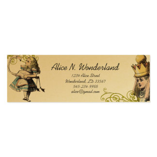 Reilaboration of Vintage Alice in Wonderland Double-Sided Mini Business Cards (Pack Of 20)