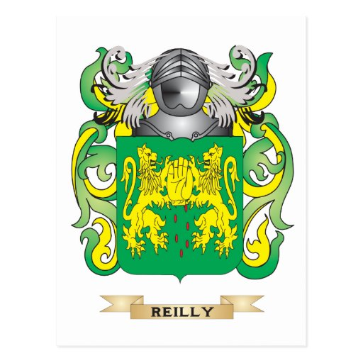 Reilly Coat of Arms (Family Crest) Postcard