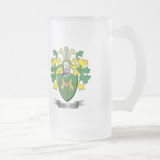 Reilly Coat of Arms Frosted Glass Beer Mug