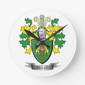 Reilly Coat of Arms Round Clock