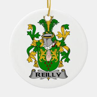Reilly Family Crest Ceramic Ornament