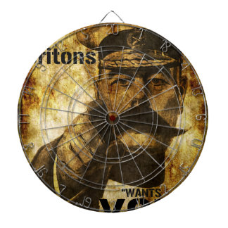 Reimagined Lord Kitchener Wants You Poster Dartboard With Darts