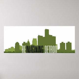 "Reimagining Detroit Poster (24""x9"")"