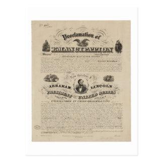 Reimpresión de la proclamación de la emancipación tarjeta postal