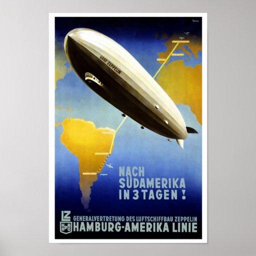 Reimpresión de un poster alemán del viaje del vint