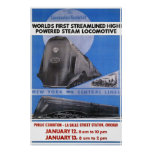 Reimpresión de un poster del ferrocarril de los E.
