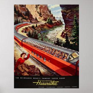 Reimpresión de un poster del ferrocarril de los E