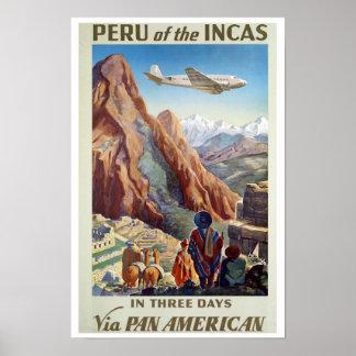 Reimpresión de un poster del transporte aéreo del