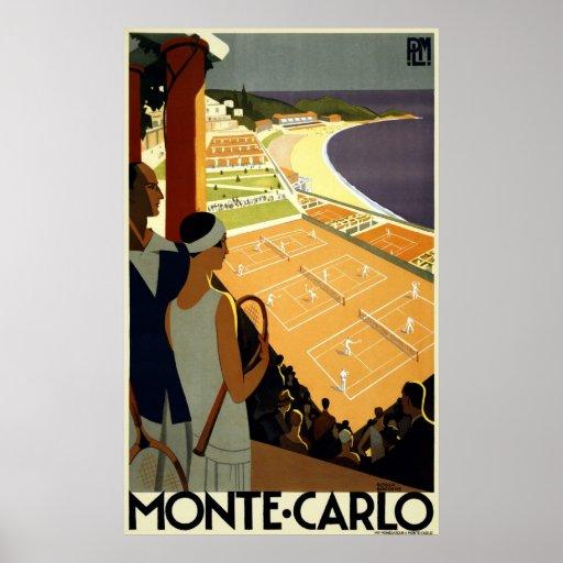 Reimpresión de un poster del turismo de Mónaco del