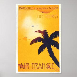 Reimpresión de un poster del viaje del francés del