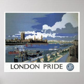 Reimpresión de un poster ferroviario británico del