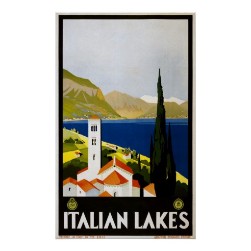 Reimpresión de un poster italiano del turismo del