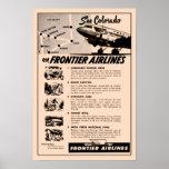 reimpresión del anuncio de Frontier Airlines de lo Poster