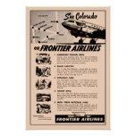 reimpresión del anuncio de Frontier Airlines de lo Póster