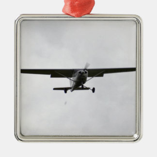 Reims Cessna en finales Adorno Navideño Cuadrado De Metal