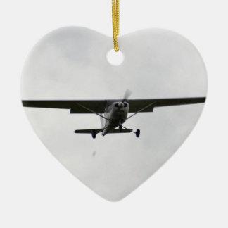 Reims Cessna en finales Adorno Navideño De Cerámica En Forma De Corazón