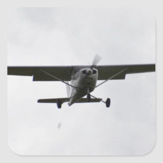 Reims Cessna en finales Calcomanías Cuadradass