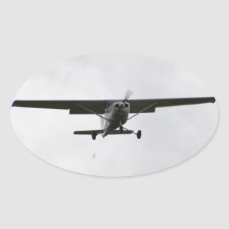 Reims Cessna en finales Pegatina Ovalada