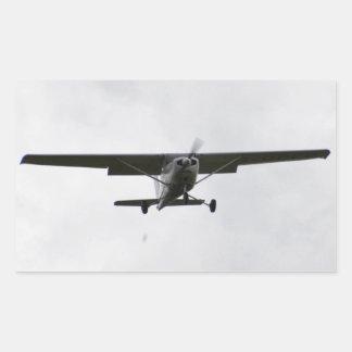 Reims Cessna en finales Pegatina Rectangular