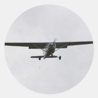 Reims Cessna en finales Pegatina Redonda