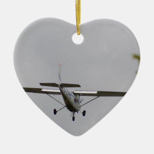 Reims Cessna F152 Adorno Navideño De Cerámica En Forma De Corazón