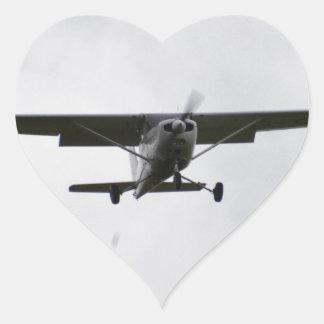 Reims Cessna On Finals Heart Sticker