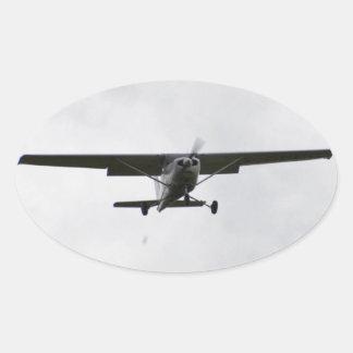 Reims Cessna On Finals Oval Sticker
