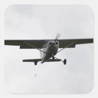 Reims Cessna On Finals Square Sticker