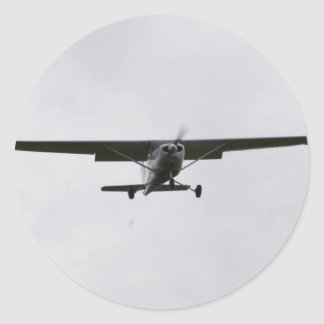 Reims Cessna On Finals Round Sticker