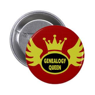 Reina 2 de la genealogía pin redondo de 2 pulgadas