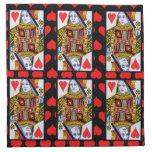 Reina adornada colorida del vintage de corazones servilleta de papel