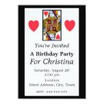Reina adornada colorida del vintage del cumpleaños invitación 11,4 x 15,8 cm