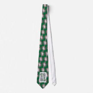 Reina afortunada del ~ de la tarjeta de clubs corbata personalizada