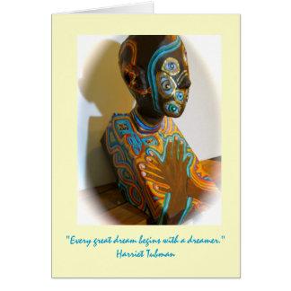 Reina africana tarjetón