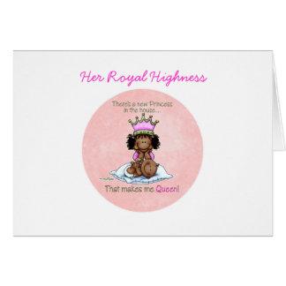 Reina afroamericana - hermana grande tarjeta de felicitación