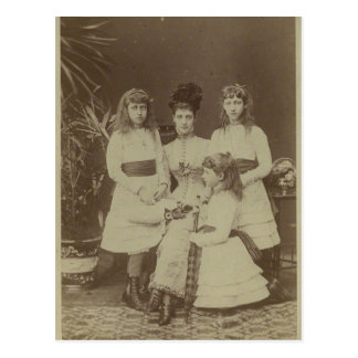 Reina Alexandra con sus hijas #010UK Postal