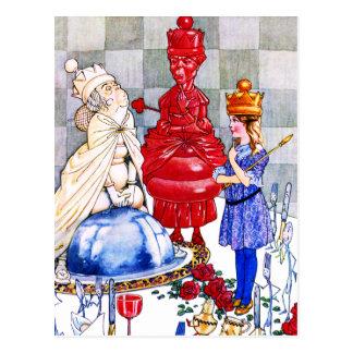 Reina Alicia, la reina roja y la reina blanca Postales