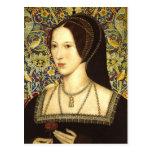 Reina Ana Bolena - postal del retrato