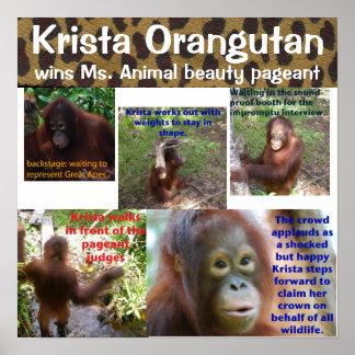 Reina animal linda Krista O del concurso de bellez Impresiones