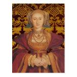 Reina Anne de Cleves - postal del retrato