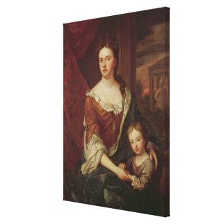 Reina Anne y Guillermo, duque de Gloucester Impresión En Lienzo