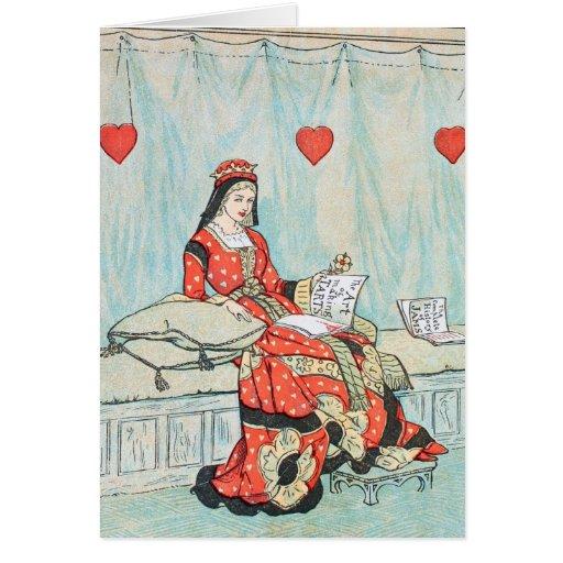 Reina antigua de Randolph Caldecott de la impresió Tarjeta De Felicitación