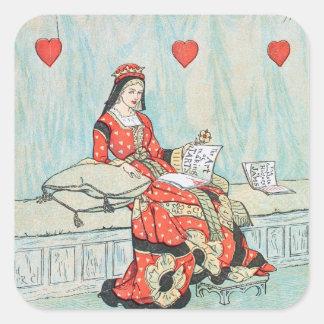 Reina antigua de Randolph Caldecott de la Pegatina Cuadrada
