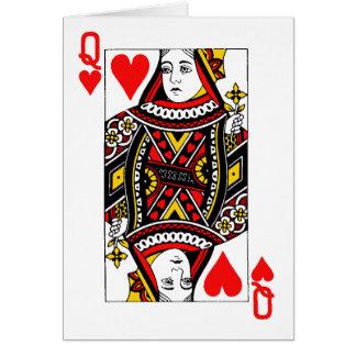 Reina antigua del corazón tarjeton